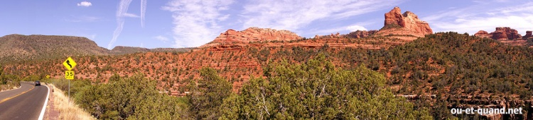 panorama sedona en arizona