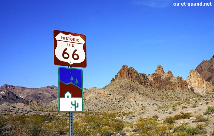 route 66 en Arizona entre needle et kingman (au niveau de oatman)