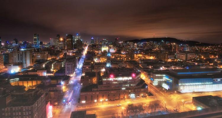 Vue sur la ville de Montréal