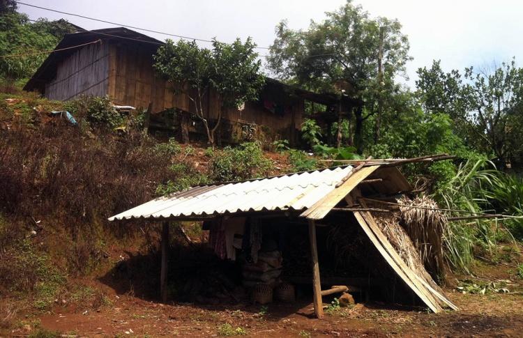 Point de départ du trek près de Chiang Maï : un village Hmong.
