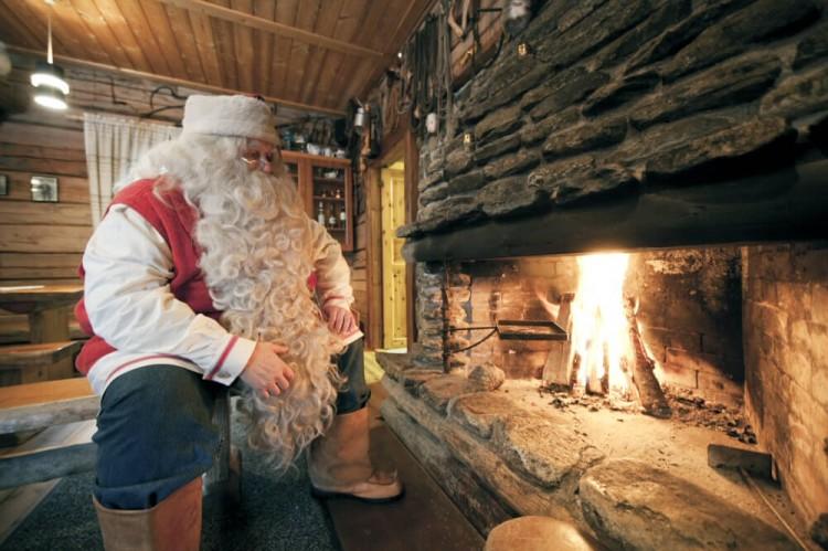 le père Noël en Laponie