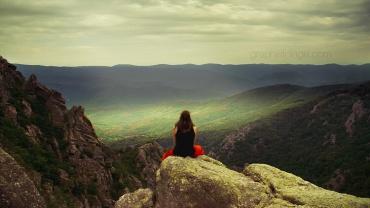 partir seule :femme face à la nature