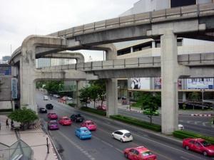 La circulation est vraiment dense à Bangkok