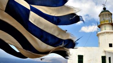 Où aller en Grèce : drapeau grecques