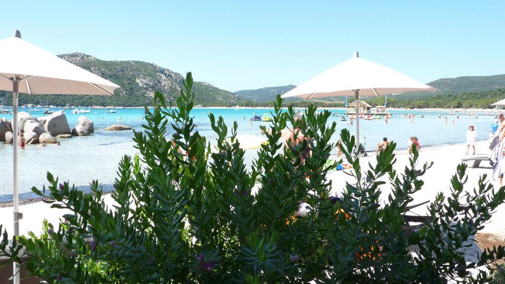 Plage de Santa Giula en Corse