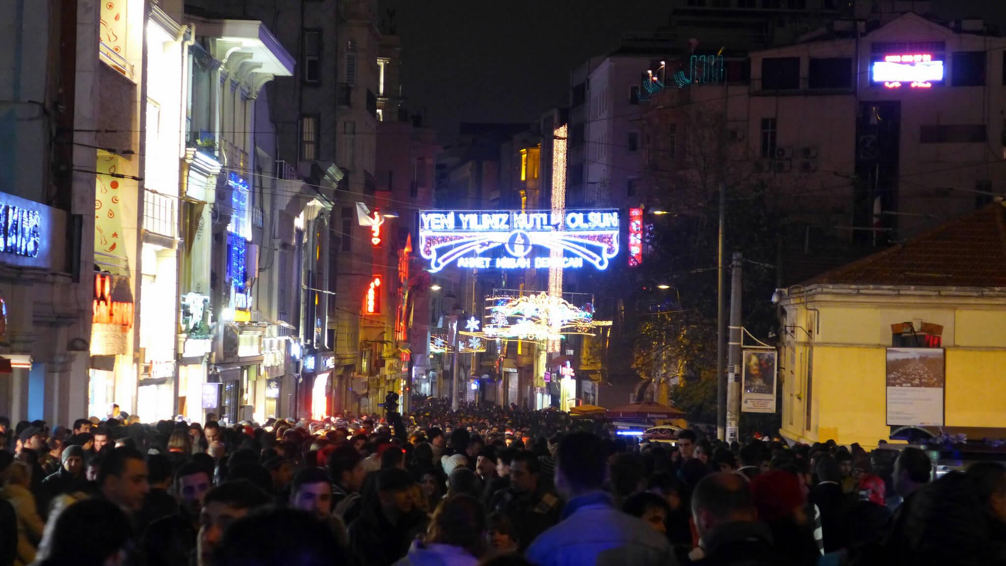 nouvel an à istanbul dans la rue