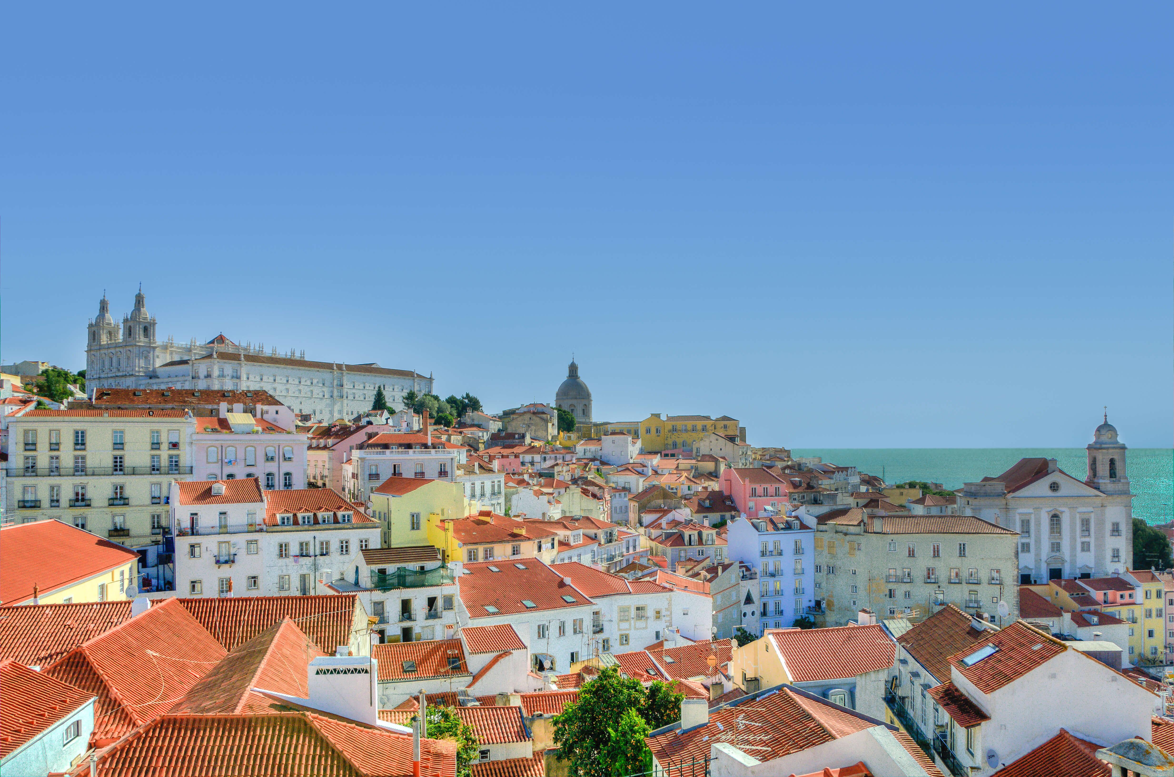 Un beau soleil d'hiver sur Lisbonne