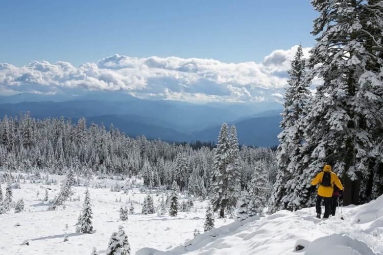 Il est possible de faire du ski aux Etats-Unis avec des paysages sublimes !