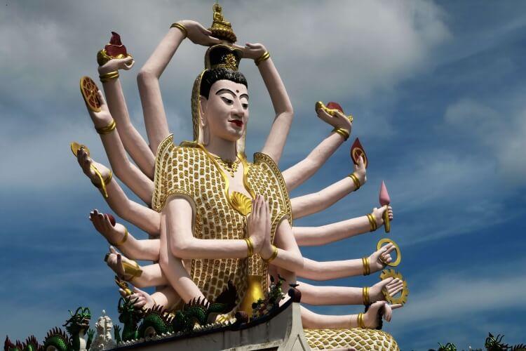 Statue originale de Koh Samui.