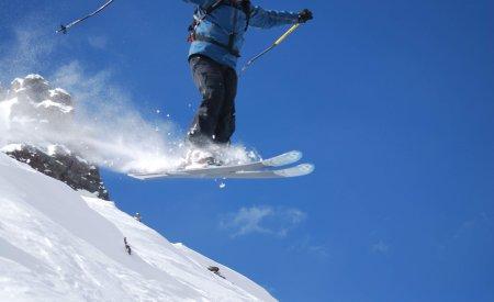 Héliskieur à Valle Nevado