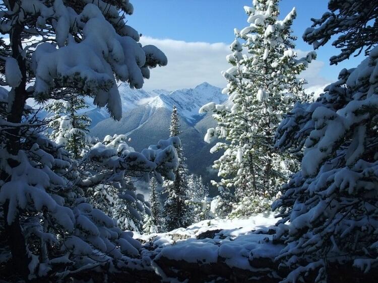 Le Parc National de Banff sous la neige