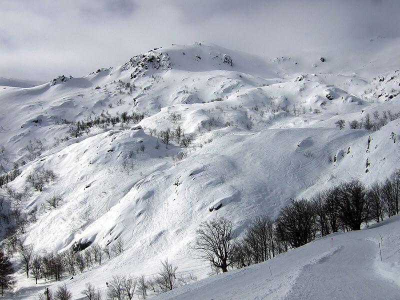 De la neige en Corse