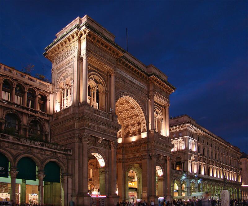 Shopping nocturne à Milan
