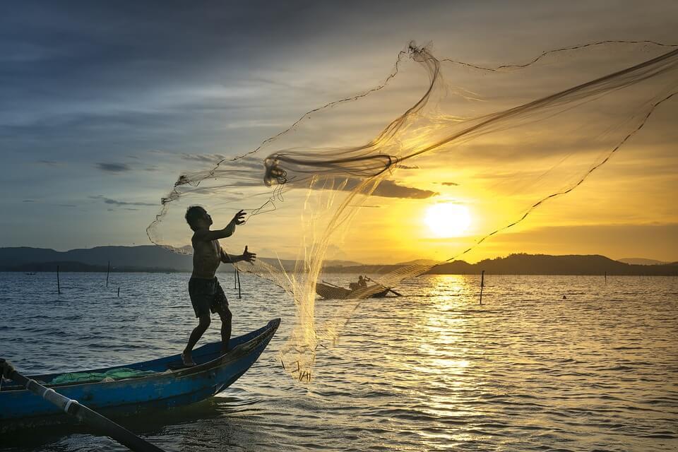 Lever de soleil à Battambang