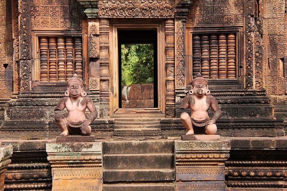 banteay srei temple grès rose au cambdoge