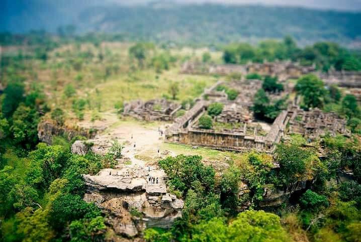 vue depuis temple cambodge preah vihear