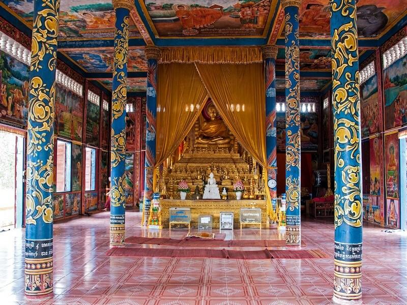 temple colorée cambodge vat krom