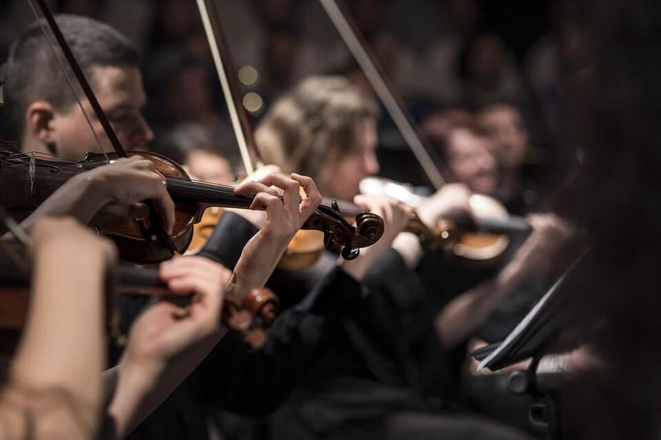 violons concert de musique classique