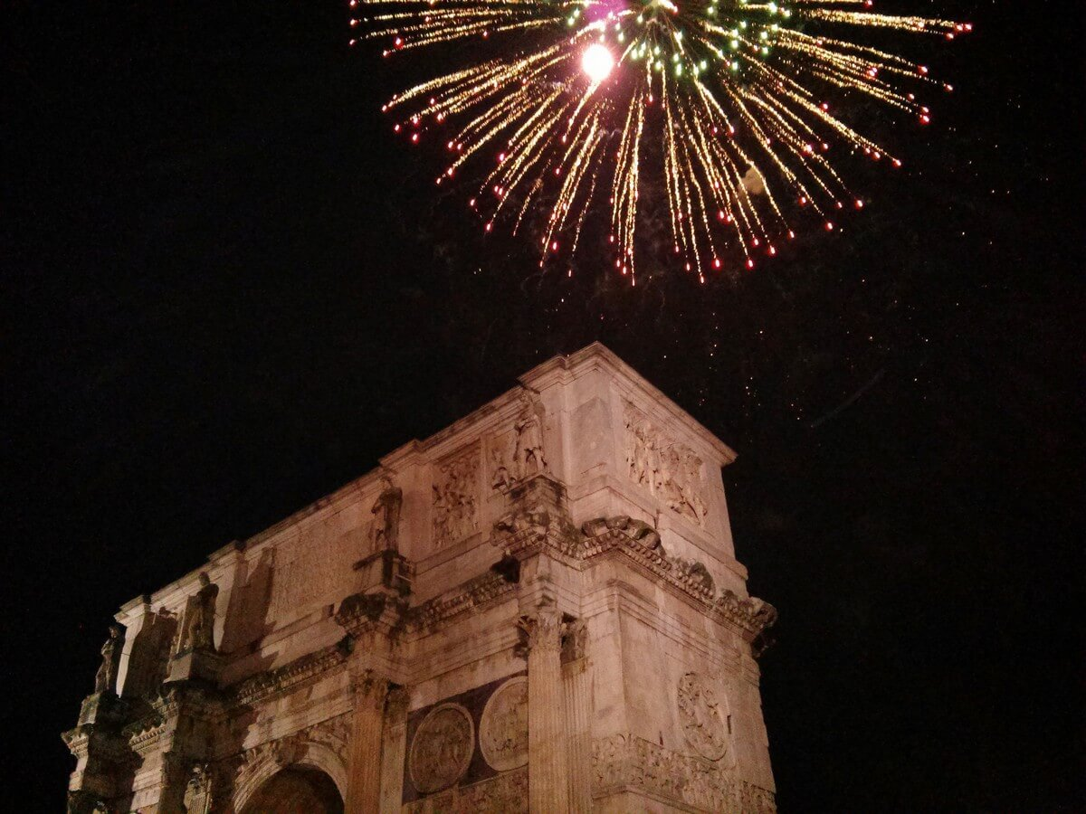 feu d'artifice rome