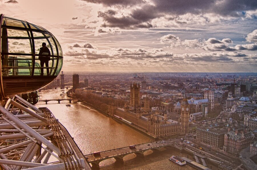 panorama depuis london eye