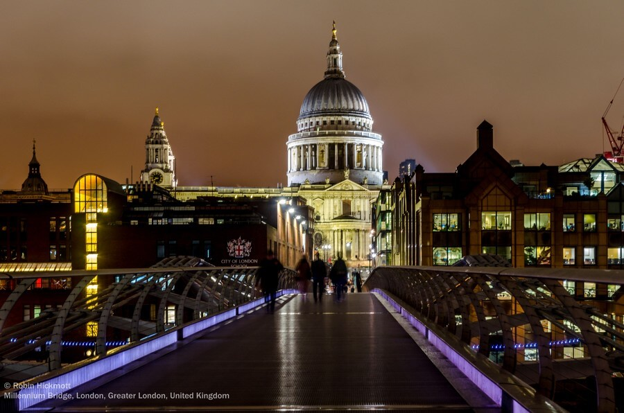 londres de nuit cathédrale st paul
