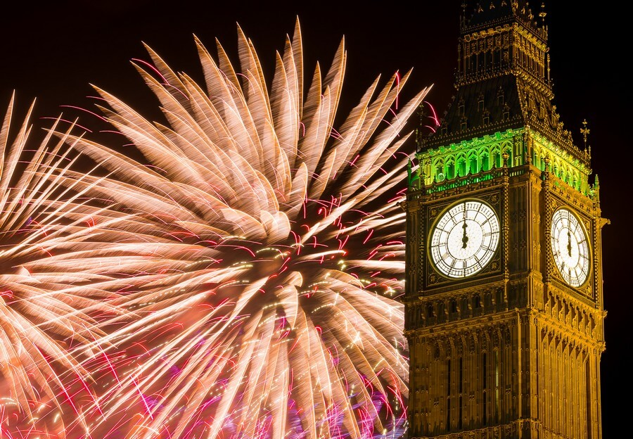 feu d'artifice à big ben