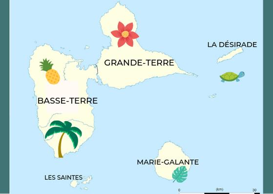 carte saison des pluies en guadeloupe