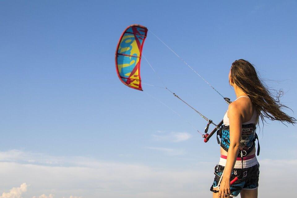 kitesurf à tenerife femme