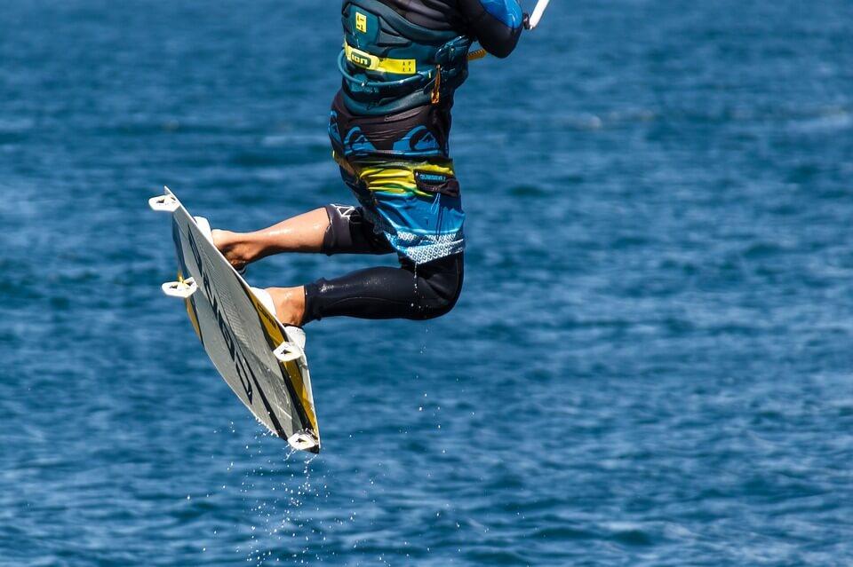 kitesurf à tenerife saut