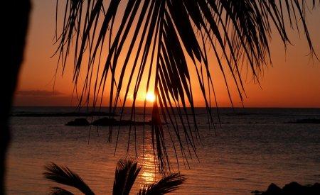 ile maurice coucher de soleil saison des pluies