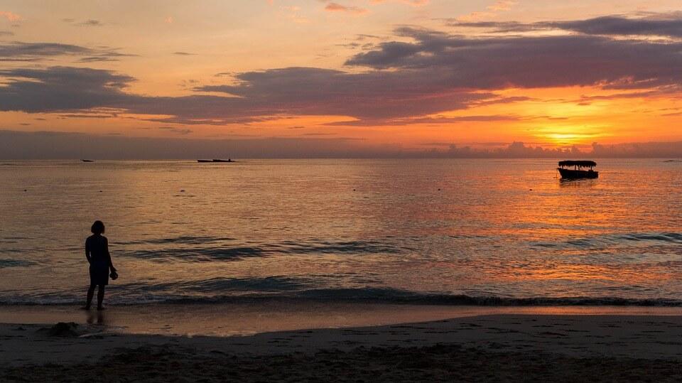 punta cana coucher de soleil plage