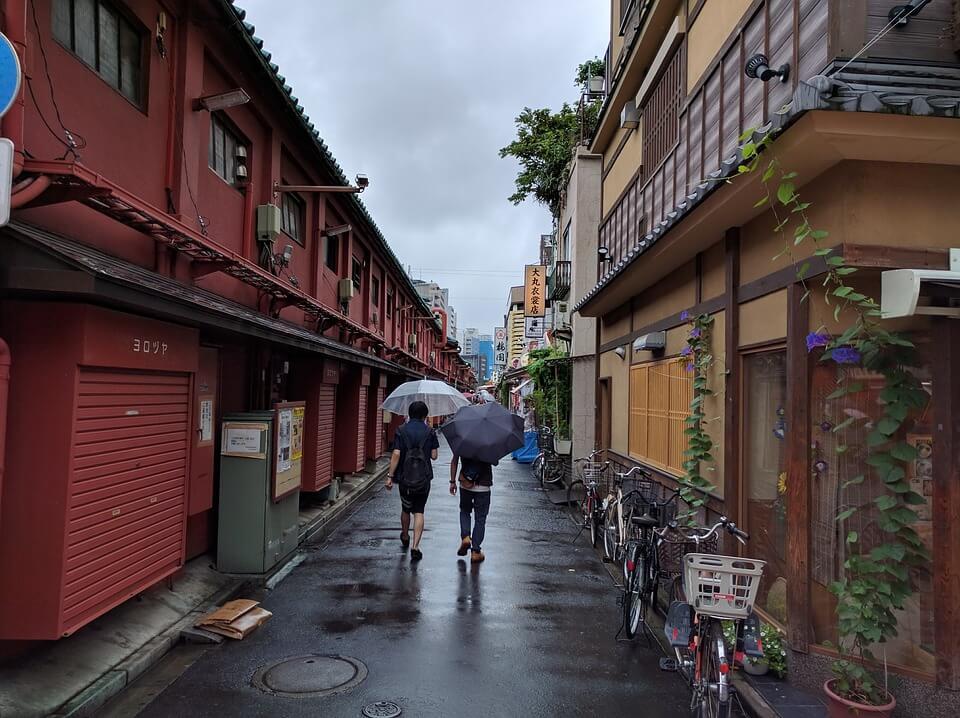 japonais rues parapluie transparent japon saison des pluies