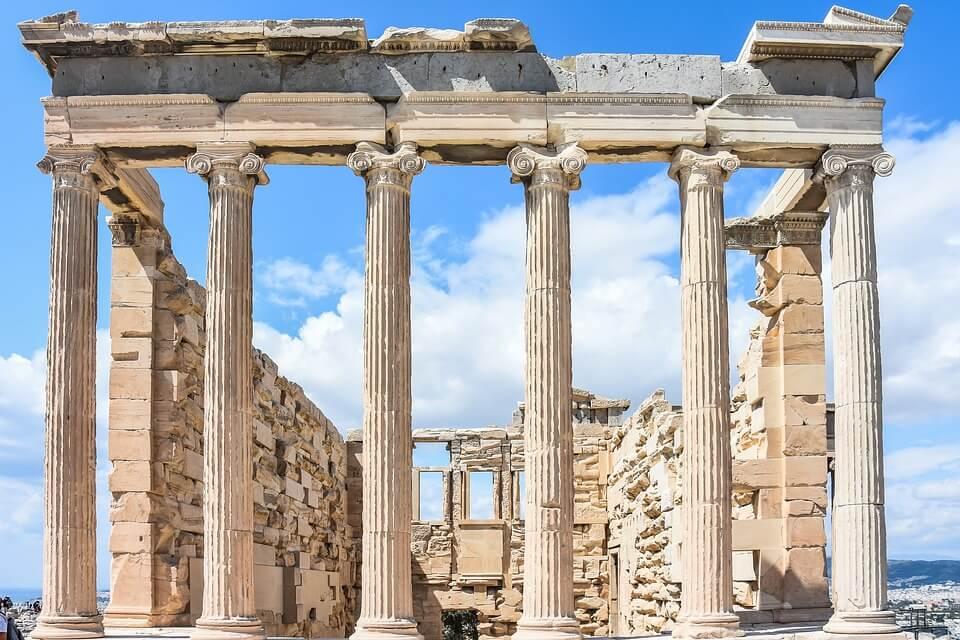 grece ou croatie temple athenes