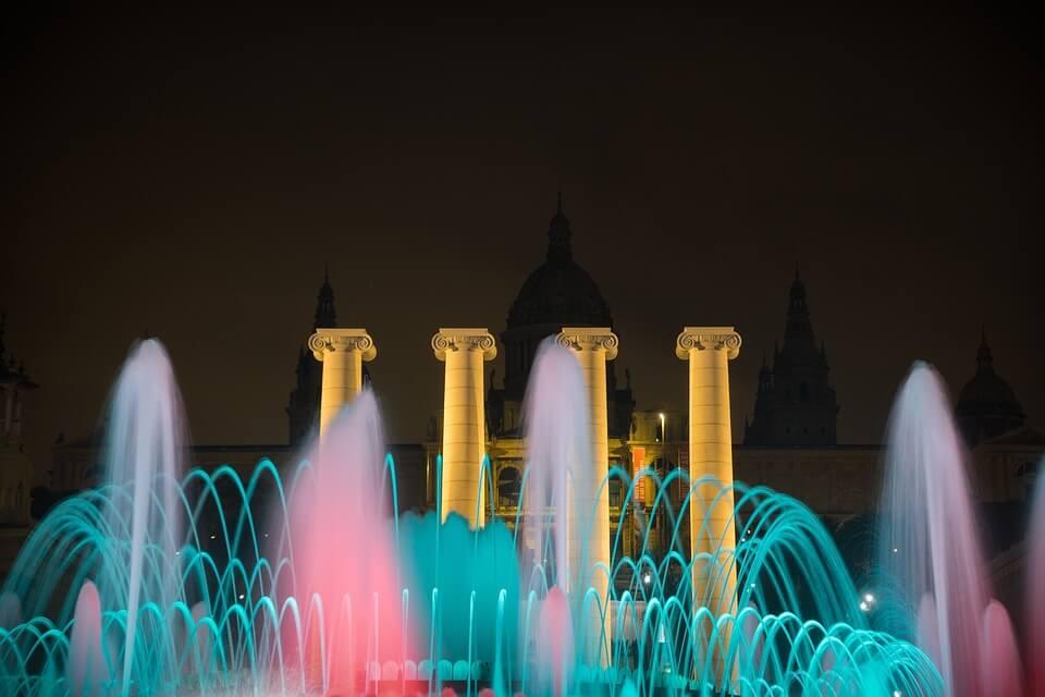 barcelone montjuic nouvel an à l'étranger