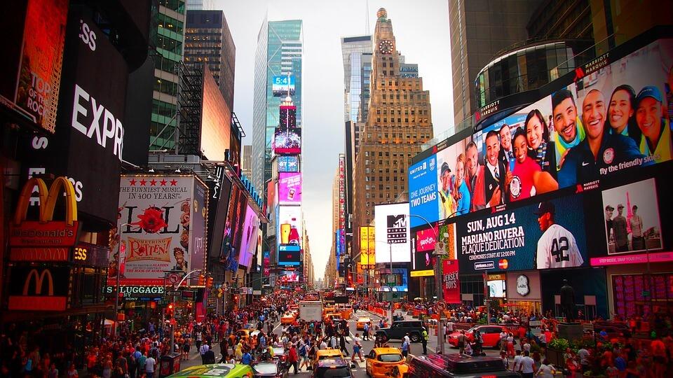 nouvel an à l'étranger times square