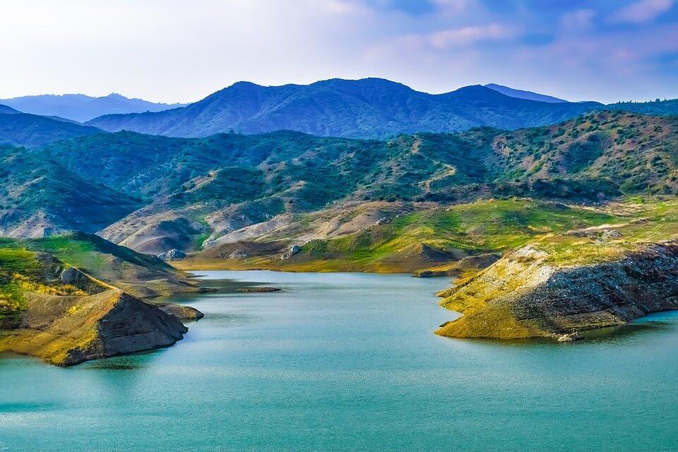 lac réserve de kalavassos à chypre Chypre ou Crète