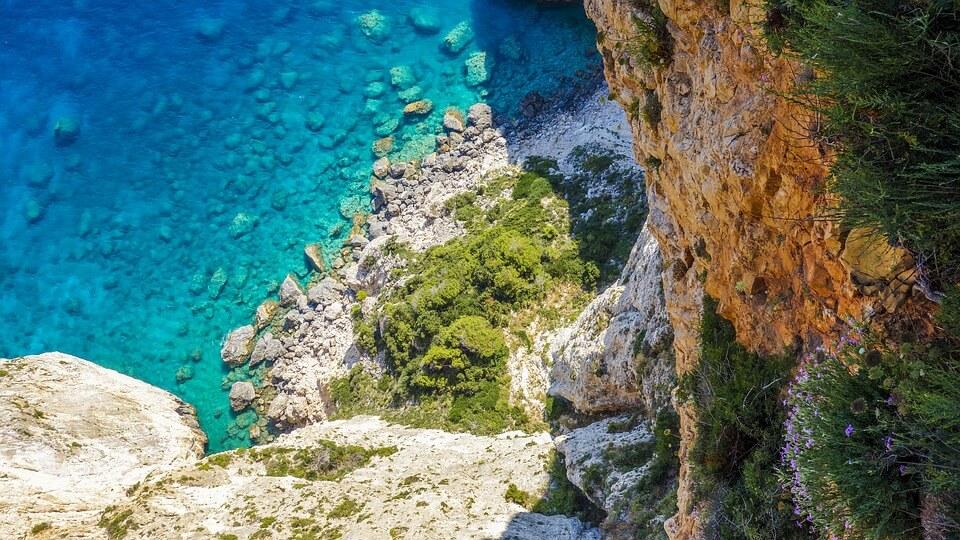 plage de crète panorama crique