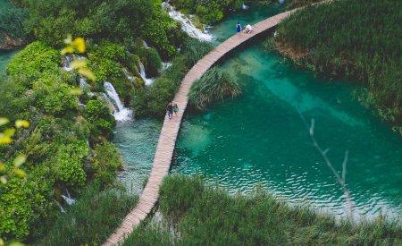 lacs de plitvice Crète ou Croatie