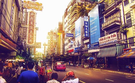 rue de bangkok immeubles