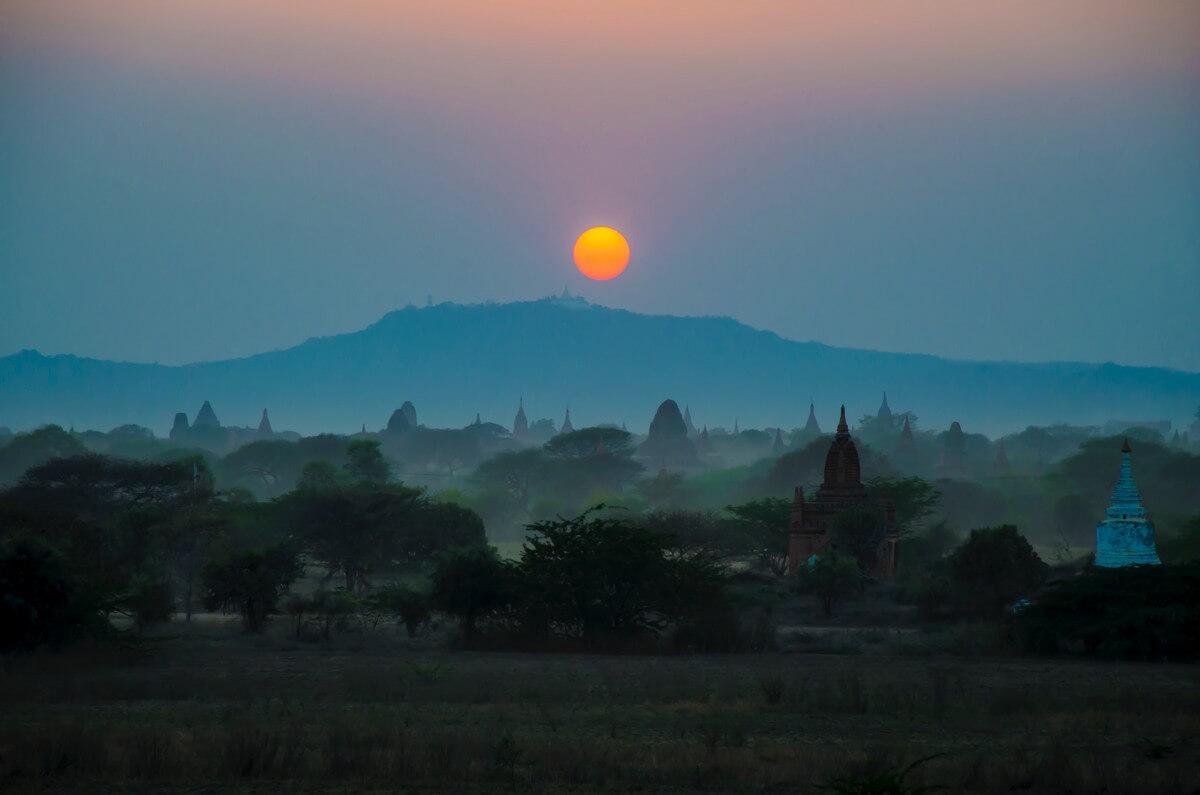lever de soleil en Birmanie