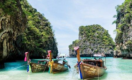 bateaux long tail boat thailande plage itinéraire 2 semaines en Thaïlande