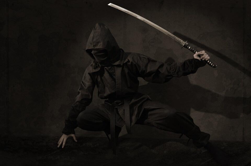 ninja sabre noir