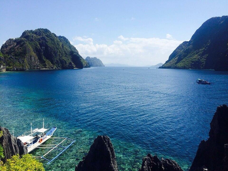 rochers palawan mer îles paradisiaques du monde