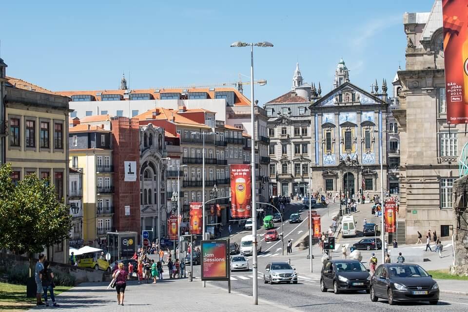 centre ville de porto circulation