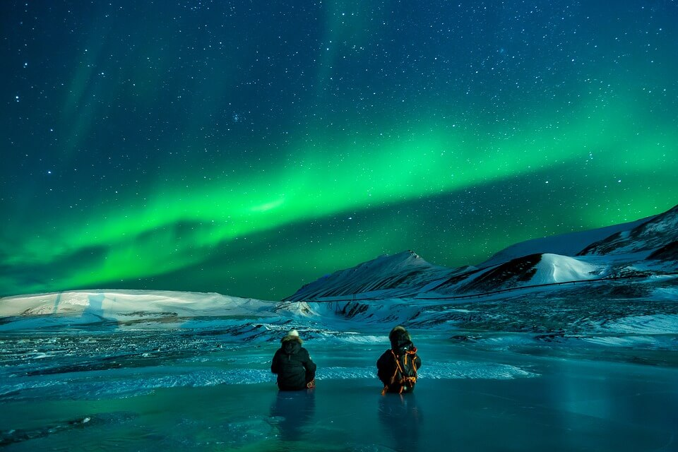 aurores boréales stockholm en hiver