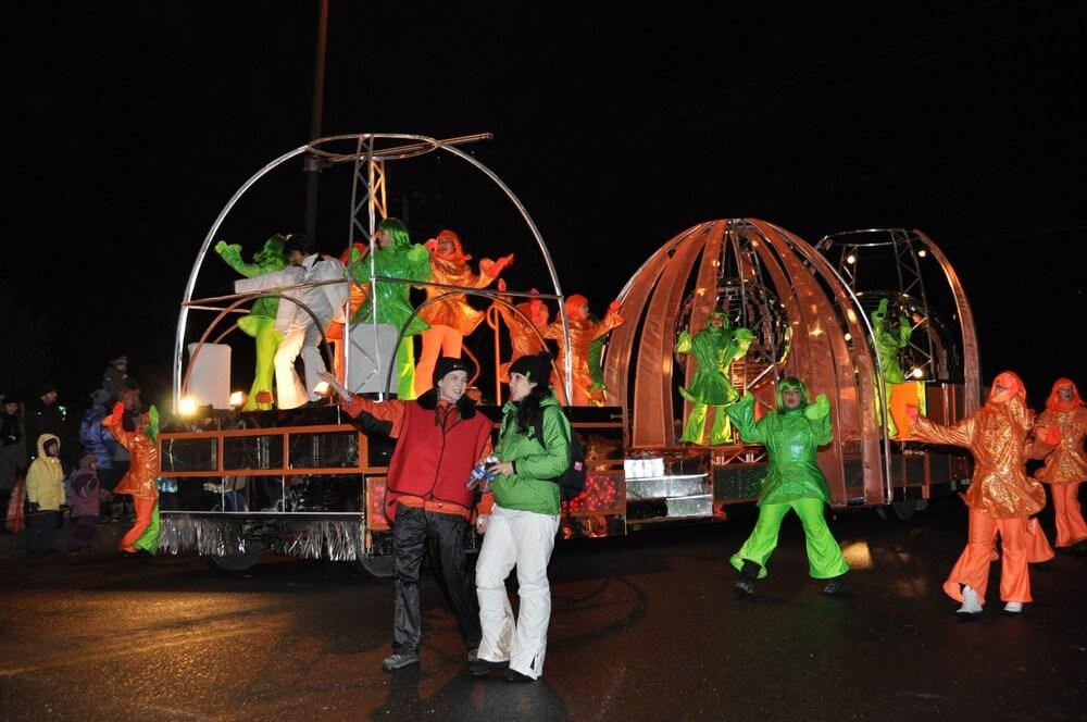 défilé carnaval de québec char couleurs