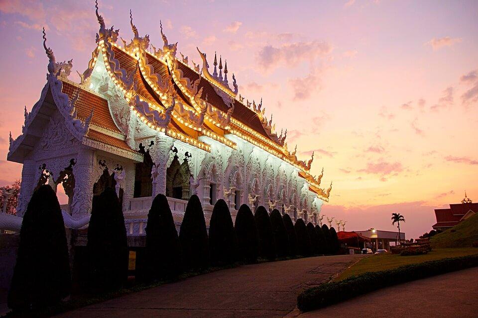 temple chian rai thailande pays chauds en janvier