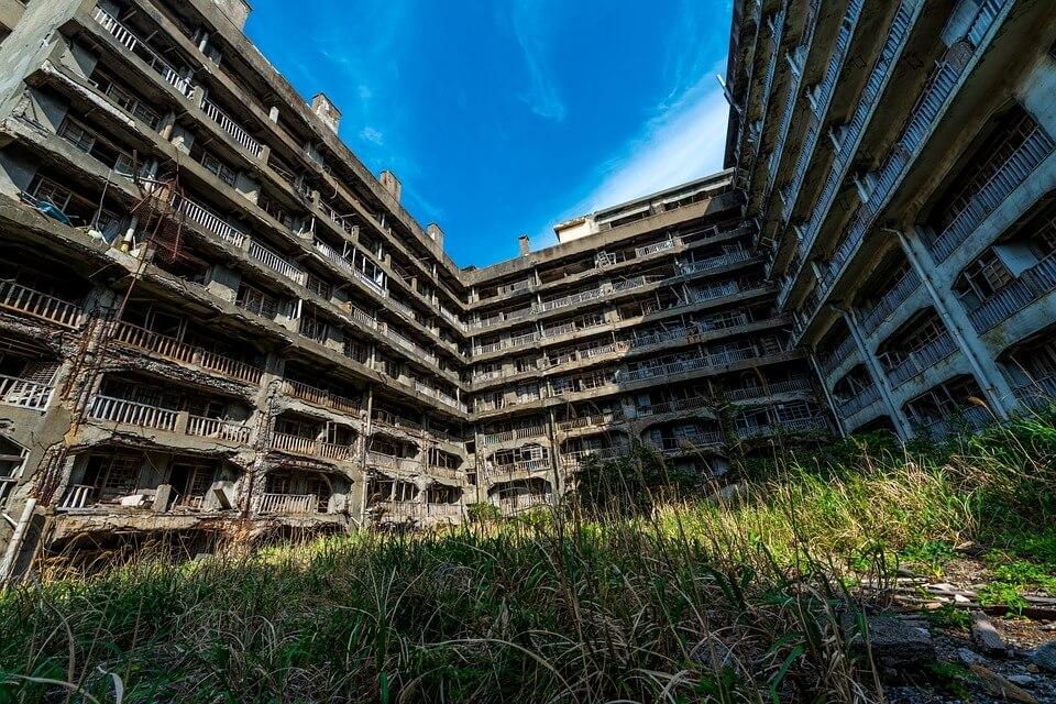 ile d'hashima batiment île abandonnée au japon