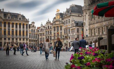 centre ville bruxelles place itinéraire en belgique