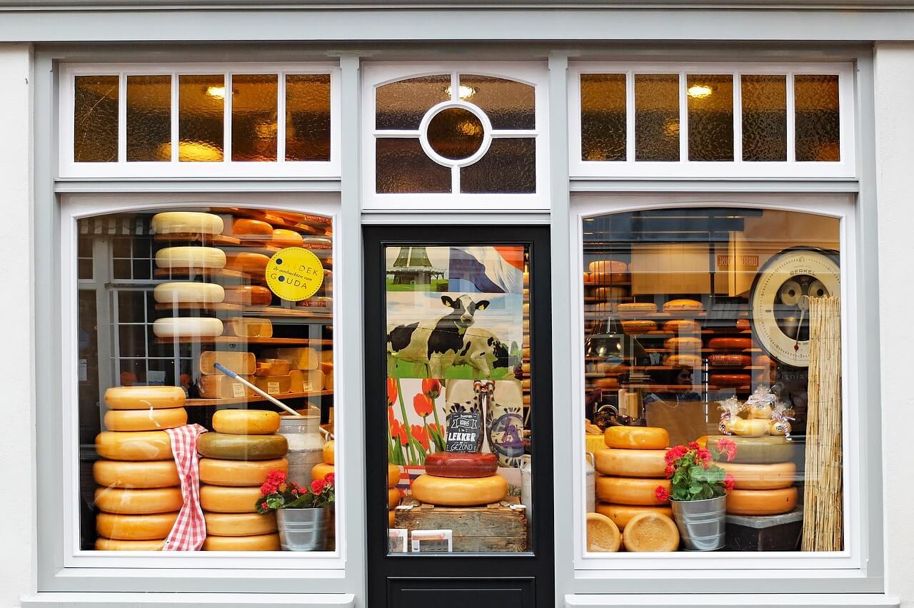 vitrine fromages ville de gouda que visiter aux pays-bas